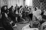 Mrs Nora Arthurs, a Catholic Voice-Box, Seer and Mystic, in her home on Canvey Island, Essex UK conducting a prayer meeting. 1996
