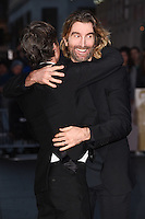 LONDON, UK. October 16, 2016: Cillian Murphy &amp; Sharlto Copley at the London Film Festival 2016 premiere of &quot;Free Fire&quot; at the Odeon Leicester Square, London.<br /> Picture: Steve Vas/Featureflash/SilverHub 0208 004 5359/ 07711 972644 Editors@silverhubmedia.com