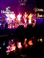 New Edition's soundcheck at DJ Cassidy's 30th Birthday / Hennessy Black's One Year Anniversary on the Intrepid.