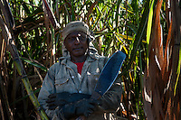 Mauritius. Mr. Sri Ram, sugar cane cutter at Grande Rosalie.