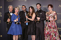 LOS ANGELES - APR 29:  Nicolas Coster, Mary Beth Evans, Gregori J. Martin, Wendy Riche, Kristos Andrews, Carlyn Hennesy at the 2017 Creative Daytime Emmy Awards at the Pasadena Civic Auditorium on April 29, 2017 in Pasadena, CA