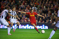 LIVERPOOL, ENGLAND - Thursday, October 4, 2012: Liverpool's Stewart Downing in action against Udinese Calcio during the UEFA Europa League Group A match at Anfield. (Pic by David Rawcliffe/Propaganda)