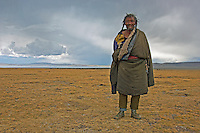 78 year old Tibetan Nomad near Lake Namtso