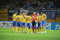 Vegalta Sendai team group,JULY 23, 2011 - Football / Soccer :Vegalta Sendai players make a circle before the start of the second half during the 2011 J.League Division 1 match between Vegalta Sendai 0-1 Omiya Ardija at Yurtec Stadium Sendai in Miyagi, Japan. (Photo by AFLO)