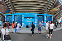 Stadium and crowd shots from Day 1 of the Medibank International..International Tennis - Medibank International Tournament - Olympic Park - Sydney - Day 1 - Sun 9th January 2011..© Frey - AMN Images, Level 1, Barry House, 20-22 Worple Road, London, SW19 4DH.Tel - +44 208 947 0100.Email - Mfrey@advantagemedianet.com.Web - www.amnimages.photshelter.com