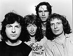 Fastway 1983  Jerry Shirley,Dave King, Carlie McCracken and Fast Eddie Clarke.© Chris Walter.
