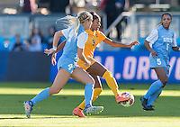 San Jose, CA - December 2, 2016: The NCAA Women's Soccer Championships Semifinals; The West Virginia Mountaineers vs the North Carolina Tar Heels at Avaya Stadium. Final score, West Virginia 1, North Carolina 0.