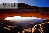 The Mesa Arch at sunrise. Canyonlands National Park, Utah