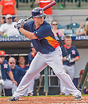 20 March 2015: Houston Astros infielder Matt Dominguez in Spring Training action against the Washington Nationals at Osceola County Stadium in Kissimmee, Florida. The Astros fell to the Nationals 7-5 in Grapefruit League play. Mandatory Credit: Ed Wolfstein Photo *** RAW (NEF) Image File Available ***