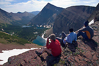 Waterton National Park, Alberta, Canada, July 2008. Lineham Ridge is the most spectacular part of the trail, with wide views all over the surrounding mountains. The Tamarack trail is a multiple day hike in the Rocky Mountains. Photo by Frits Meyst/Adventure4ever.com
