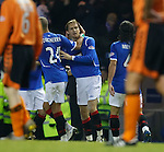 Sasa Papac celebrates after equalising for Rangers
