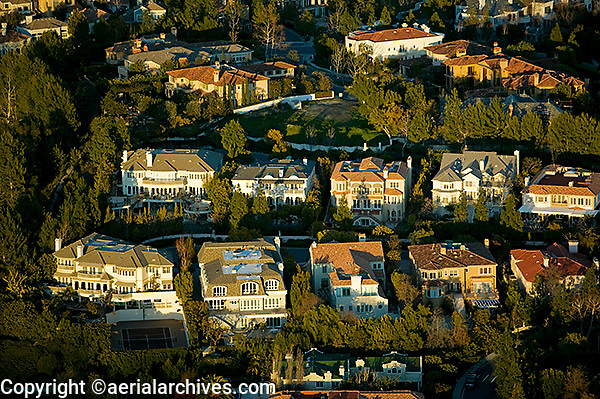 Aerial photograph beverly hills homes los angeles for California los angeles houses