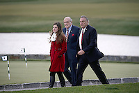 Former New York City Mayor Rudy Giuliani (C) arrives for a meeting with United States President-elect Donald Trump (not pictured) at the clubhouse of Trump International Golf Club, in Bedminster Township, New Jersey, USA, 20 November 2016.<br /> Credit: Peter Foley / Pool via CNP /MediaPunch