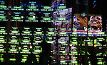 Green screens and a photo of President-elect Barack Obama on election day early Wednesday, Nov. 5, 2008  at Times square in New York. Photo by Eyal Warshavsky .