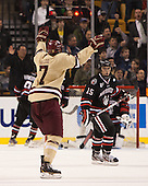 Isaac MacLeod (BC - 7) - The Boston College Eagles defeated the Northeastern University Huskies 6-3 on Monday, February 11, 2013, at TD Garden in Boston, Massachusetts.