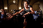 GOP Presidential candidate Rep. Michele Bachmann greets supporters at a rally in Davenport, Iowa, July 24, 2011.