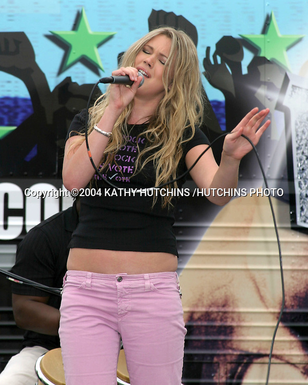 ©2004 KATHY HUTCHINS /HUTCHINS PHOTO.ROCK THE VOTE PRESS CONFERENCE.LOS ANGELES, CA.JUNE 16, 2004..JOSS STONE