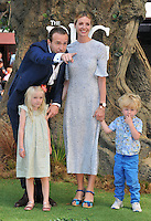 Rafe Spall, Elize du Toit &amp; their kids Lena Spall, Rex Spall at the &quot;The BFG&quot; UK film premiere, Odeon Leicester Square cinema, Leicester Square, London, England, UK, on Sunday 17 July 2016.<br /> CAP/CAN<br /> &copy;CAN/Capital Pictures /MediaPunch ***NORTH AND SOUTH AMERICAS ONLY***
