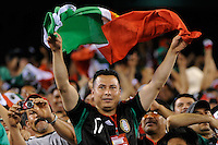Mexico fans celebrate the game winning goal. Mexico defeated Guatemala 2-1 during a quarterfinal match of the 2011 CONCACAF Gold Cup at the New Meadowlands Stadium in East Rutherford, NJ, on June 18, 2011.