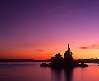 Tufa towers at sunrise Mono Lake Lee Vining California