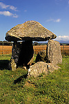 Europe, United Kingdom, Wales, Anglesey, Holyhead. Bodowyr burial chamber, a neolithic dolmen and Welsh Heritage Site protected by the CADW.