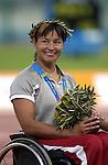 Chantal Petitclerc obtient sa deuxième médailles d'or au 400 mètres (Jean-Baptiste Benavent 22 septembre).