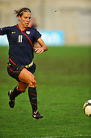 USA forward Lauren Cheney chases down the ball..The USA captured the 2010 Algarve Cup title by defeating Germany 3-2, at Estadio Algarve on March 3, 2010.