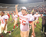 Lafayette High's Trae Pruitt (55) vs. Laurel in the MHSAA Class 4A championship game at Mississippi Veterans Memorial Stadium in Jackson, Miss. on Saturday, December 3, 2011. Lafayette won 39-29, the team's 32 straight win, to capture their second consecutive state championship.