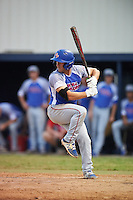 College of Central Florida Patriots Vincent Addona (3) at bat during a game against the SCF Manatees on February 8, 2017 at Robert C. Wynn Field in Bradenton, Florida.  SCF defeated Central Florida 6-5 in eleven innings.  (Mike Janes/Four Seam Images)