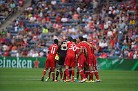 Bridgeview, IL - Sunday, August 14, 2016: The Chicago Fire and Orlando City played to a 2-2 draw in a Major League Soccer (MLS) game at Toyota Park.