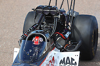 Feb 26, 2017; Chandler, AZ, USA; NHRA top fuel driver Steve Torrence during the Arizona Nationals at Wild Horse Pass Motorsports Park. Mandatory Credit: Mark J. Rebilas-USA TODAY Sports