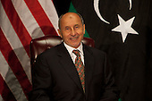 Chairman Mustafa Abdel Jalil of the Libyan Transitional National Council (TNC) during his meeting with United States President Barack Obama (not pictured) at the United Nations in New York, New York on Tuesday, September 20, 2011..Credit: Allan Tannenbaum / Pool via CNP