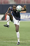 Oct 13 2007:   Tina Ellertson (8) of the USA.  The US Women's National Team defeated Mexico 5-1 at the Edward Jones Dome in St. Louis on October 13th in their first of three expo matches.