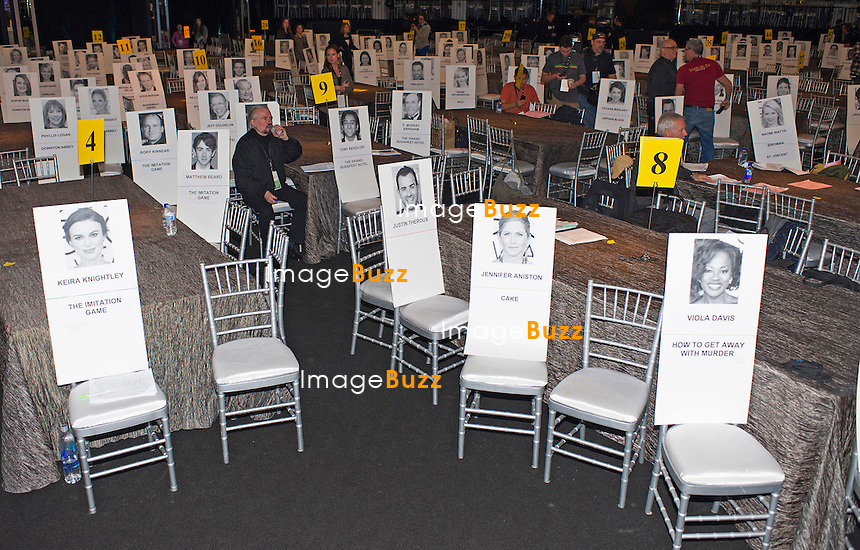 25.01.2015; Los Angeles, California: 21st SAG AWARDS<br /> The seating arrangement for the stars on the night of the 21st Screen Actors Guild Awards.