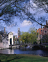 AA00417-01...BELGIUM - Bruges, a town laced with a picturesque system of canals.