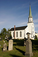 Trinity Church in Kingston, New Brunswick, Canada. This historic church was established  by United Empire Loyalists in 1789. It is the oldest Anglican church in New Brunswick.