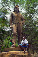 LIVINGSTONE, VICTORIA FALLS, ZAMBIA, DECEMBER 2004. Dr David Livingstone 'discovered' the Falls and is the local hero. Victoria falls on the border between Zambia and Zimbabwe is the outdoor adventure capital of Africa. Photo by Frits Meyst/Adventure4ever.com