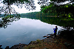 Fishing while canoe camping in the Boundary Waters of northern Minnesota. ..