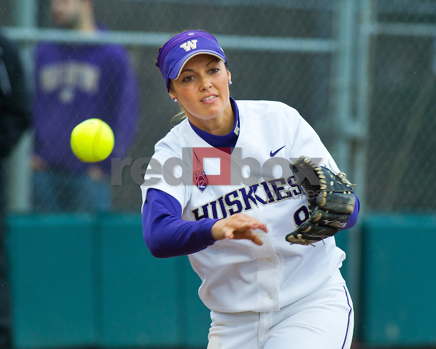 Courtney Gano..--------Washington Huskies softball team versus Seattle University at UW on Saturday, March 10, 2012. (Photo by Dan DeLong/Red Box Pictures)