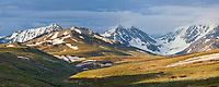 Alaska range mountain scenic in Denali National Park, Alaska.