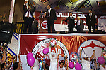 Egyptian Islamist presidential candidate Dr. Mohamed Morsy waves to the crowd at a May 17, 2012 campaign rally in the Nile delta city of Benha, Egypt. Morsy, the Muslim Brotherhood's candidate once lagged far behind in the polls, but is now considered a strong underdog candidate because of the legendary organizational machine his group commands during election times. (Photo by Scott Nelson)