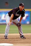 14 June 2006: Garrett Atkins, third baseman for the Colorado Rockies, warms up prior to a game against the Washington Nationals in Washington, DC. The Rockies defeated the Nationals 14-8 in front of 24,273 fans at RFK Stadium...Mandatory Photo Credit: Ed Wolfstein Photo...