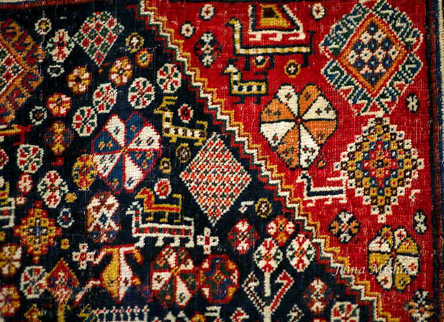 ANTIQUE QASHQAI RUG WITH SHEKARLU INFLUENCE
