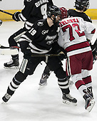Jake Walman (PC - 19), Phil Zielonka (Harvard - 72) - The Harvard University Crimson defeated the Providence College Friars 3-0 in their NCAA East regional semi-final on Friday, March 24, 2017, at Dunkin' Donuts Center in Providence, Rhode Island.