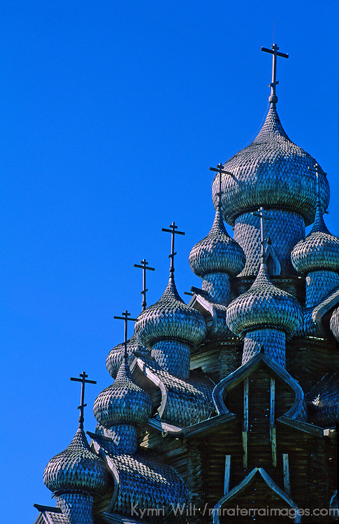 Europe, Russia, Kizhi Island. Church of Transfiguration.