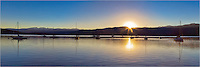 The air was still and the waters calm on this clear, cold morning looking over Lake Granby near the town of Grand Lake, Colorado. This Colorado Image is a stitch of several images merged together.