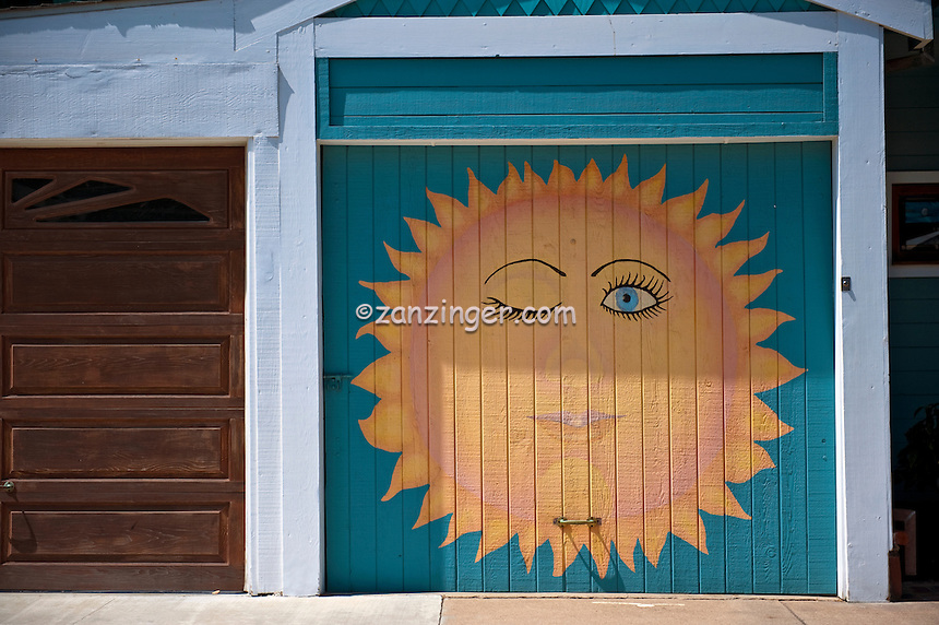 Garage Door, Sun Painting, Manhattan beach, CA,  Volleyball, , pictures of front door entrances