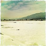 Photo shows a typical winter scene in Aizuwakamatsu City, Fukushima Prefecture, Japan.  Photographer: Rob Gilhooly