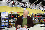 Founder Irio Tommassini still working at 84 dedicates a card to me in the Tommasini factory based in Grosseto, Tuscany, Italy 6th March 2017.<br /> Picture: Eoin Clarke | Newsfile<br /> <br /> <br /> All photos usage must carry mandatory copyright credit (&copy; Newsfile | Eoin Clarke)