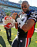 19 October 2008:  Buffalo Bills' safety George Wilson celebrate a victory over the San Diego Chargers at Ralph Wilson Stadium in Orchard Park, NY. The Bills defeated the Chargers 23-14 and maintain their first place position in the AFC East with a 5 and 1 record...Mandatory Photo Credit: Ed Wolfstein Photo